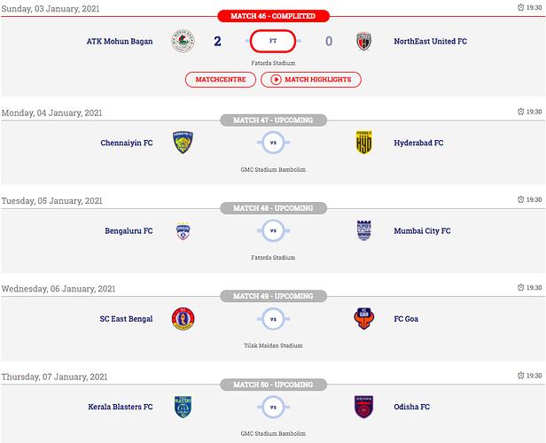 ISL-Matchday-10-Fixtures