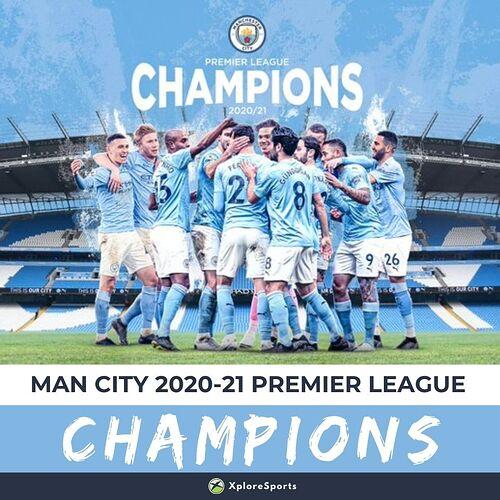 Man City 2020-21 PL Champions