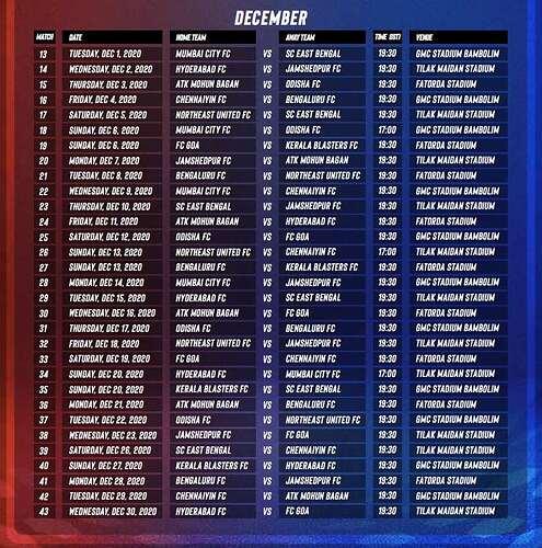 ISL 2020-21 Fixtures2