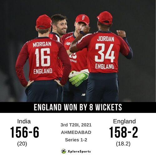 IND vs ENG - 3rd T20I - 16032021