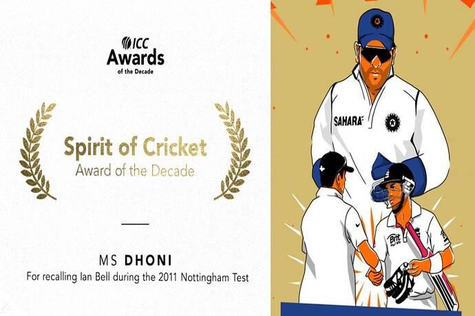MS-Dhoni-wins-ICC-Spirit-of-Cricket-Award-of-the-Decade-Chosen-for-calling-back-England-batsman-Ian-Bell