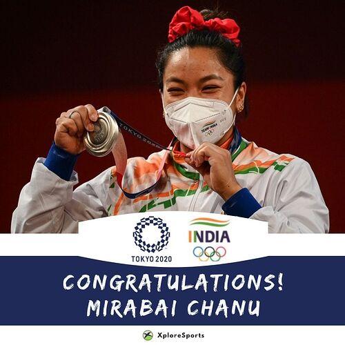 Olympics-Mirabai-Chanu-Silver-Medal