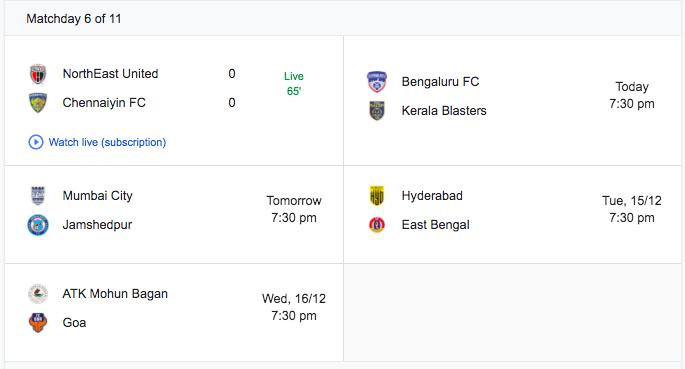 Matchday 6-ISL