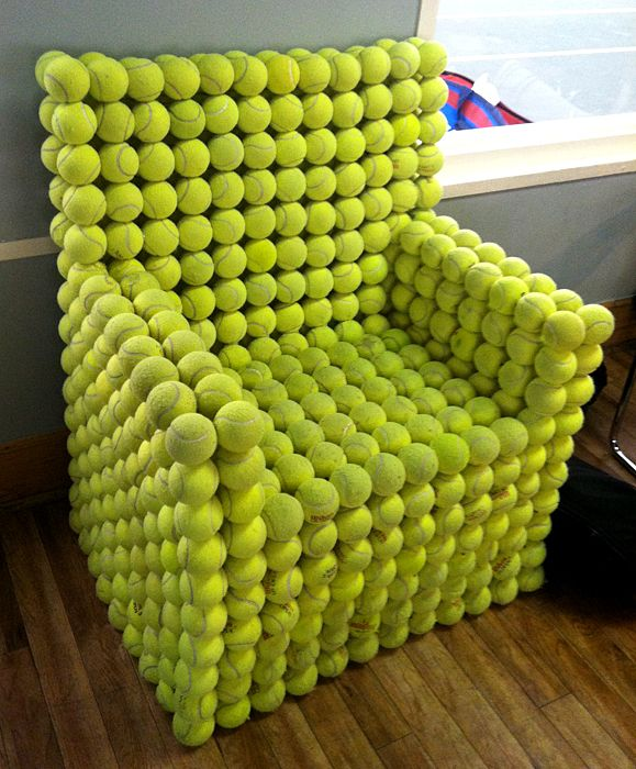 Recycle-Tennis-ball-chair
