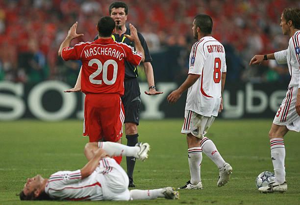 athens-greece-german-referee-herbert-fandel-speaks-to-liverpools-picture-id74337873