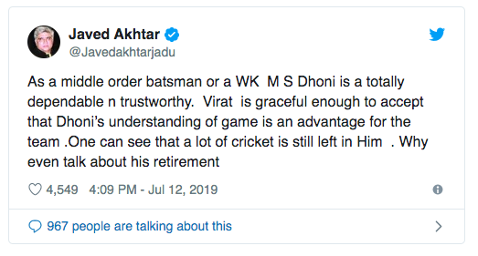 Javed-Akhtar-Dhoni-retirement-tweet