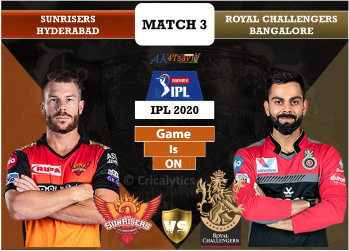 SRH Vs RCB Match 3